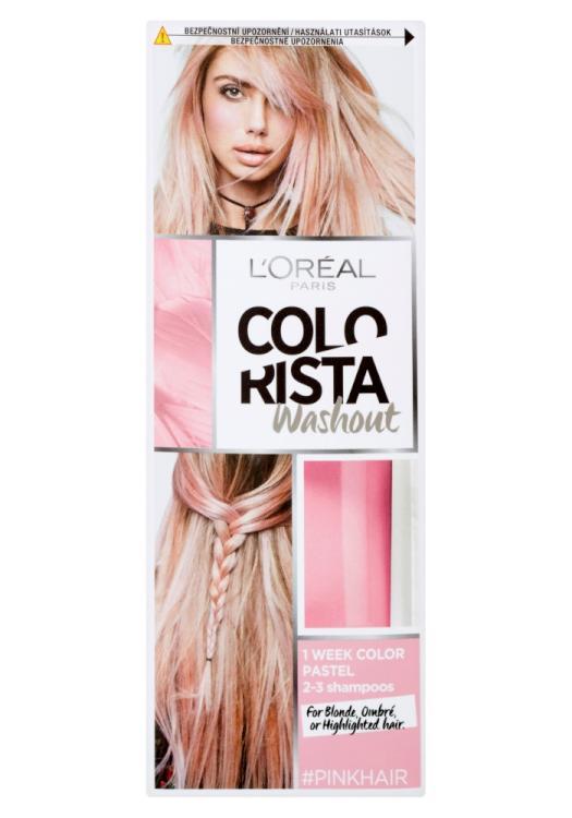 Vymývající se barva Loréal Colorista Washout Pink Hair - růžová