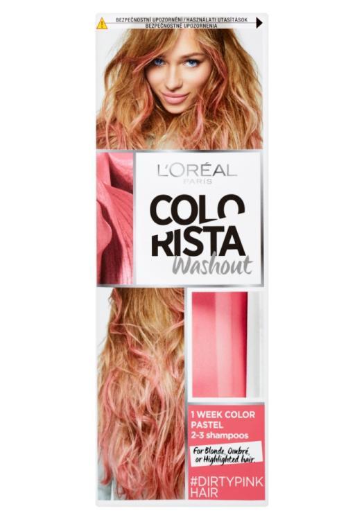 Vymývající se barva Loréal Colorista Washout Dirty Pink Hair - sytá růžová