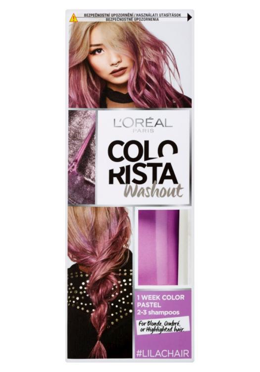 Vymývající se barva Loréal Colorista Washout Lilac Hair - šeříková