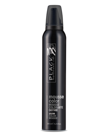 Barevné pěnové tužidlo Black Mousse Color - 200 ml, hnědá (03209)