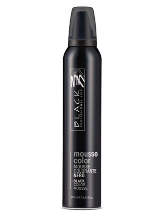 Barevné pěnové tužidlo Black Mousse Color - 200 ml, černá (03200)