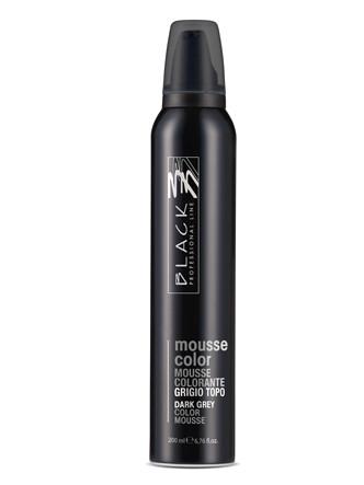 Barevné pěnové tužidlo Black Mousse Color - 200 ml, tmavě šedá (03201)