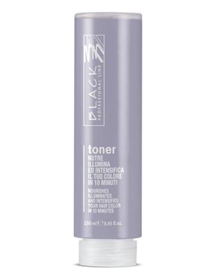 Ošetřující toner pro zvýraznění barvy Black Toner - stříbrná, 250 ml (01210) + DÁREK ZDARMA