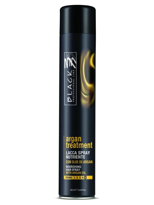 Lak na vlasy s maximální fixací Black Argan Treatment - 500 ml (03026) + DÁREK ZDARMA