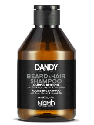 Šampon pro šetrné mytí vlasů a vousů Dandy Beard a Hair - 300 ml (1192)