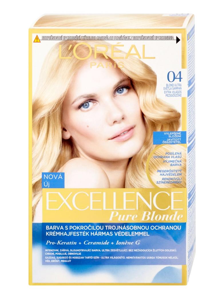 Permanentní barva Loréal Excellence 04 blond ultra světlá šampaň