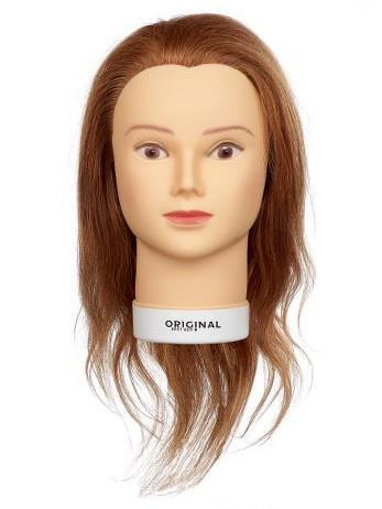 Cvičná hlava dámská s přírodními vlasy ISALINE, Original Best Buy - blond 15 - 40 cm (0030211) + DÁREK ZDARMA