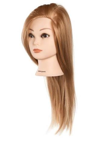 Cvičná hlava dámská s umělými vlasy ANABELLE, Original Best Buy - blond 30 - 40 cm (0030095) + DÁREK ZDARMA