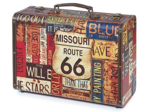 Kadeřnický kufr Sibel Vintage Route 66 (0150069) + DÁREK ZDARMA