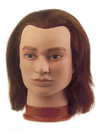 Cvičná hlava pánská s přírodními vlasy JULIEN, Sibel - 20 - 25 cm (0040901) + DÁREK ZDARMA