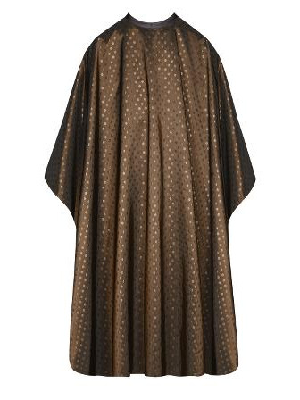 Kadeřnická pláštěnka na barvení a stříhání vlasů Sibel Dots - zlatá (6600549) + DÁREK ZDARMA
