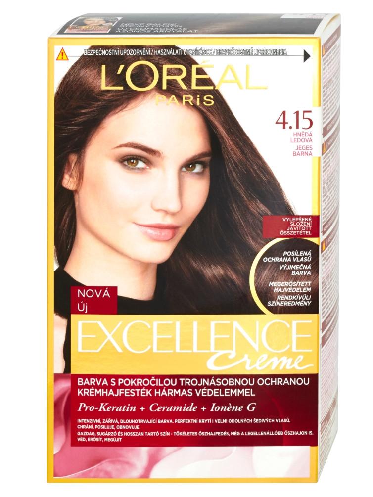 Permanentní barva Loréal Excellence 4.15 hnědá ledová - L'Oréal Paris + DÁREK ZDARMA