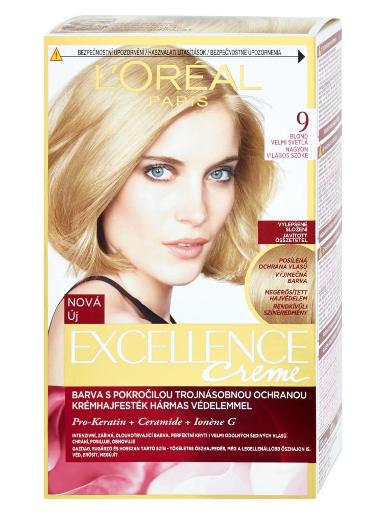 Permanentní barva Loréal Excellence 9 blond velmi světlá