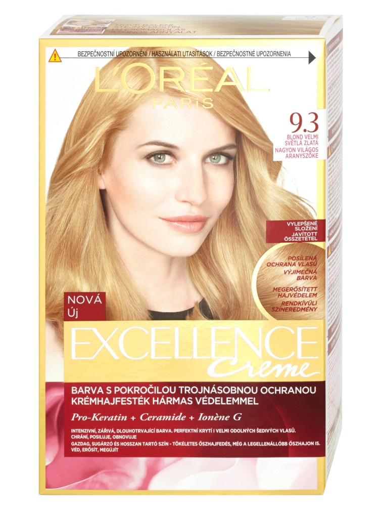 Permanentní barva Loréal Excellence 9.3 blond velmi světlá zlatá