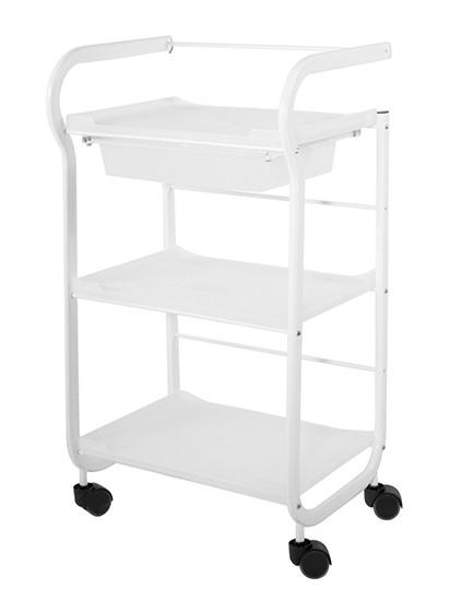 Kosmetický stolek na kolečkách SilverFox 1017 - bílý + DÁREK ZDARMA