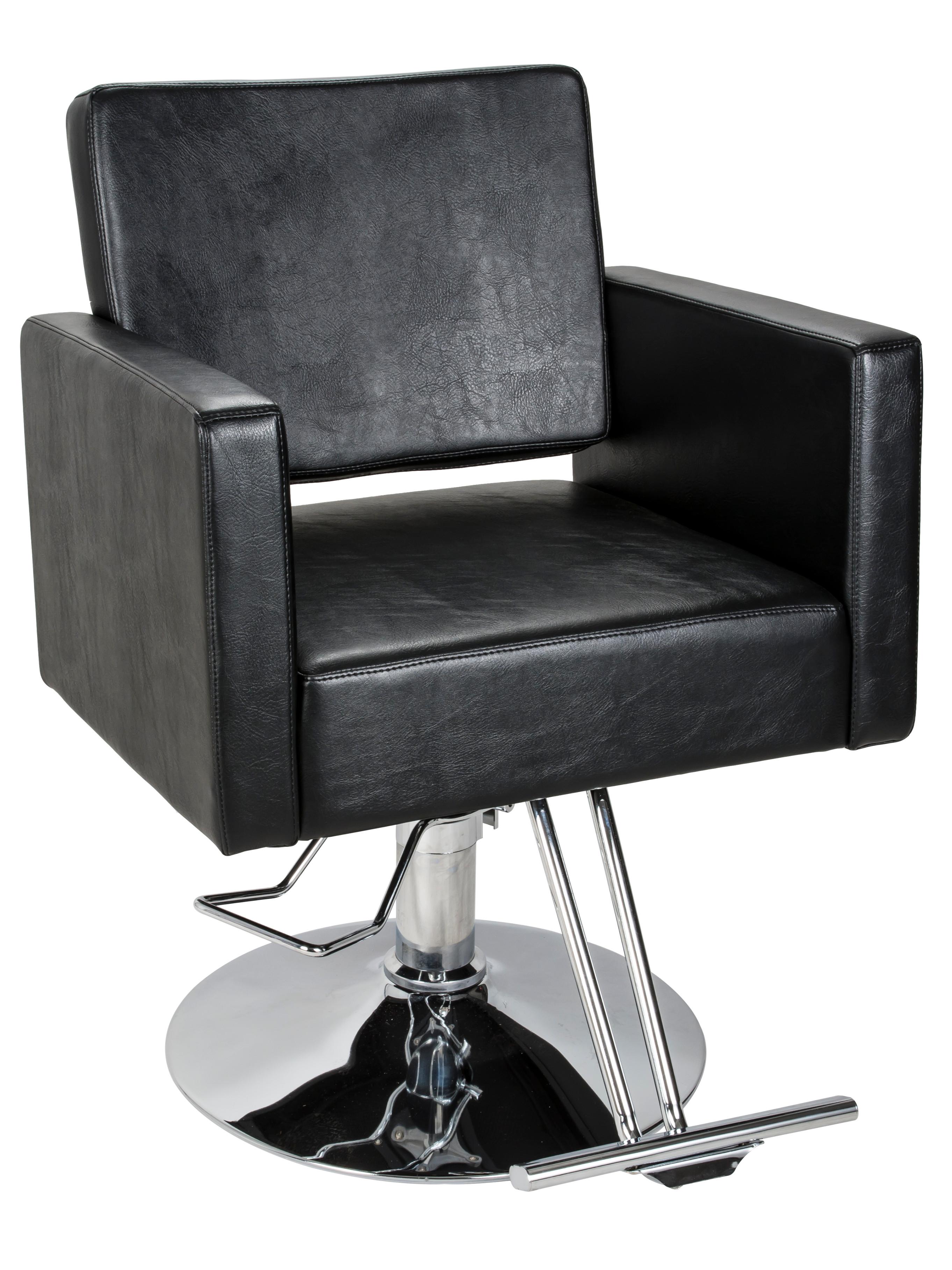 Kadeřnické křeslo SilverFox Y195, černé + DÁREK ZDARMA