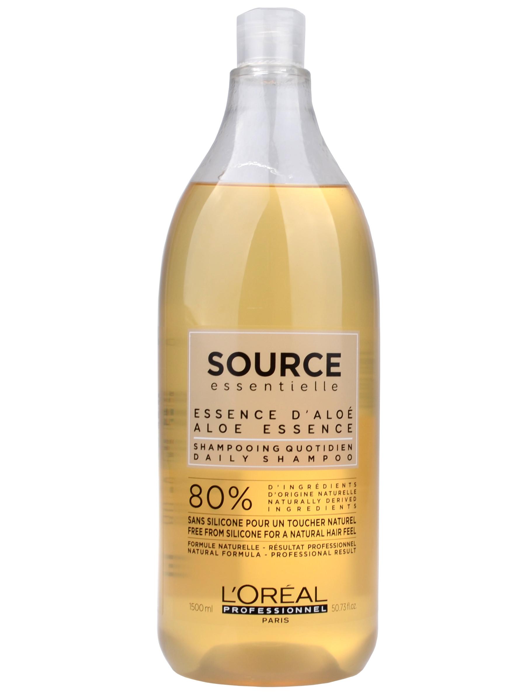 Veganský šampon pro normální až jemné vlasy Loréal Source Daily - 1500 ml + DÁREK ZDARMA