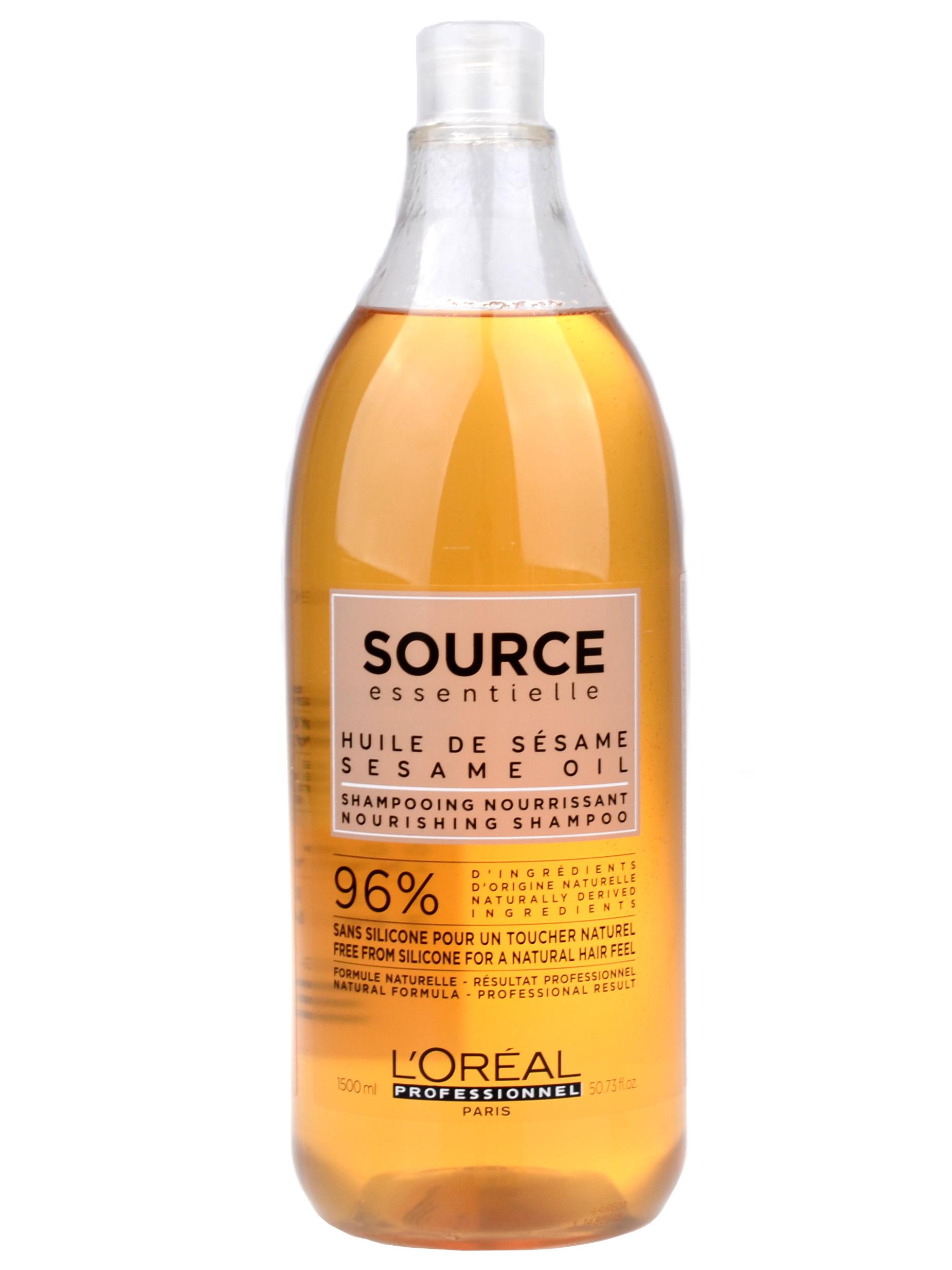 Veganský šampon pro suché a zcitlivělé vlasy Loréal Source Nourishing - 1500 ml + DÁREK ZDARMA