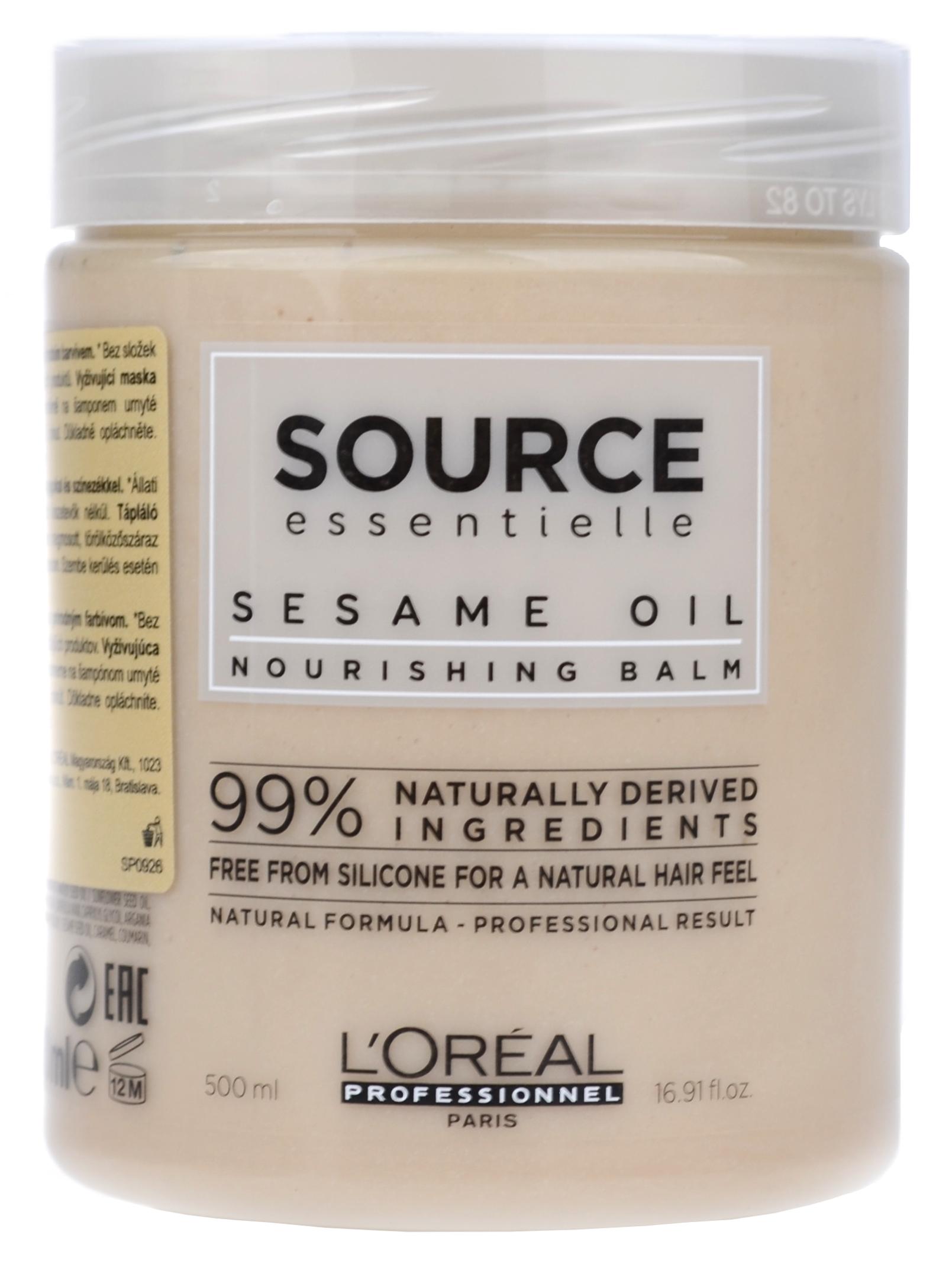 Veganská maska pro suché a zcitlivělé vlasy Loréal Source - 500 ml + DÁREK ZDARMA