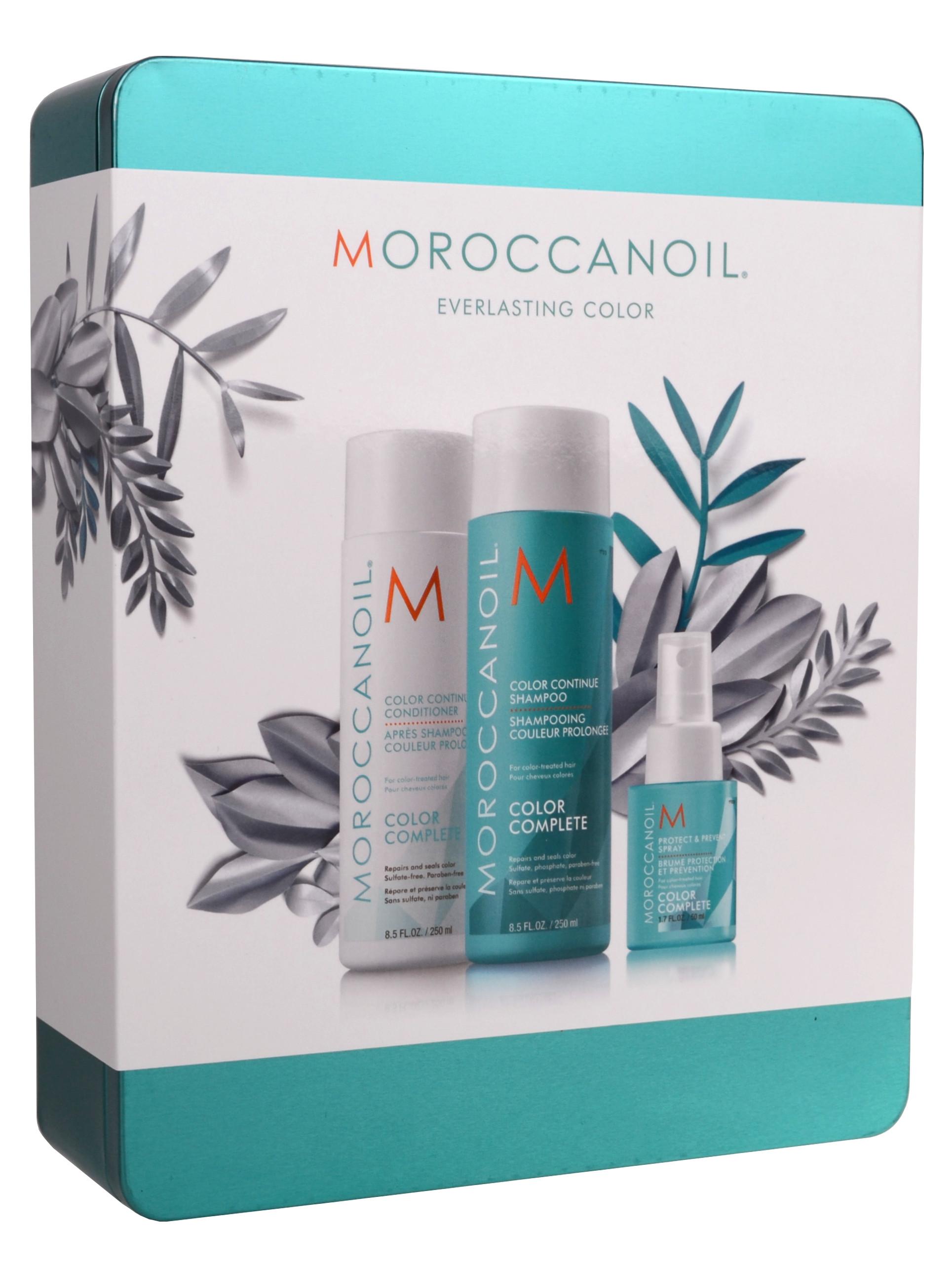 Dárková sada v plechové krabičce pro barvené vlasy Moroccanoil Color Complete (MOXMCOL18) + DÁREK ZDARMA