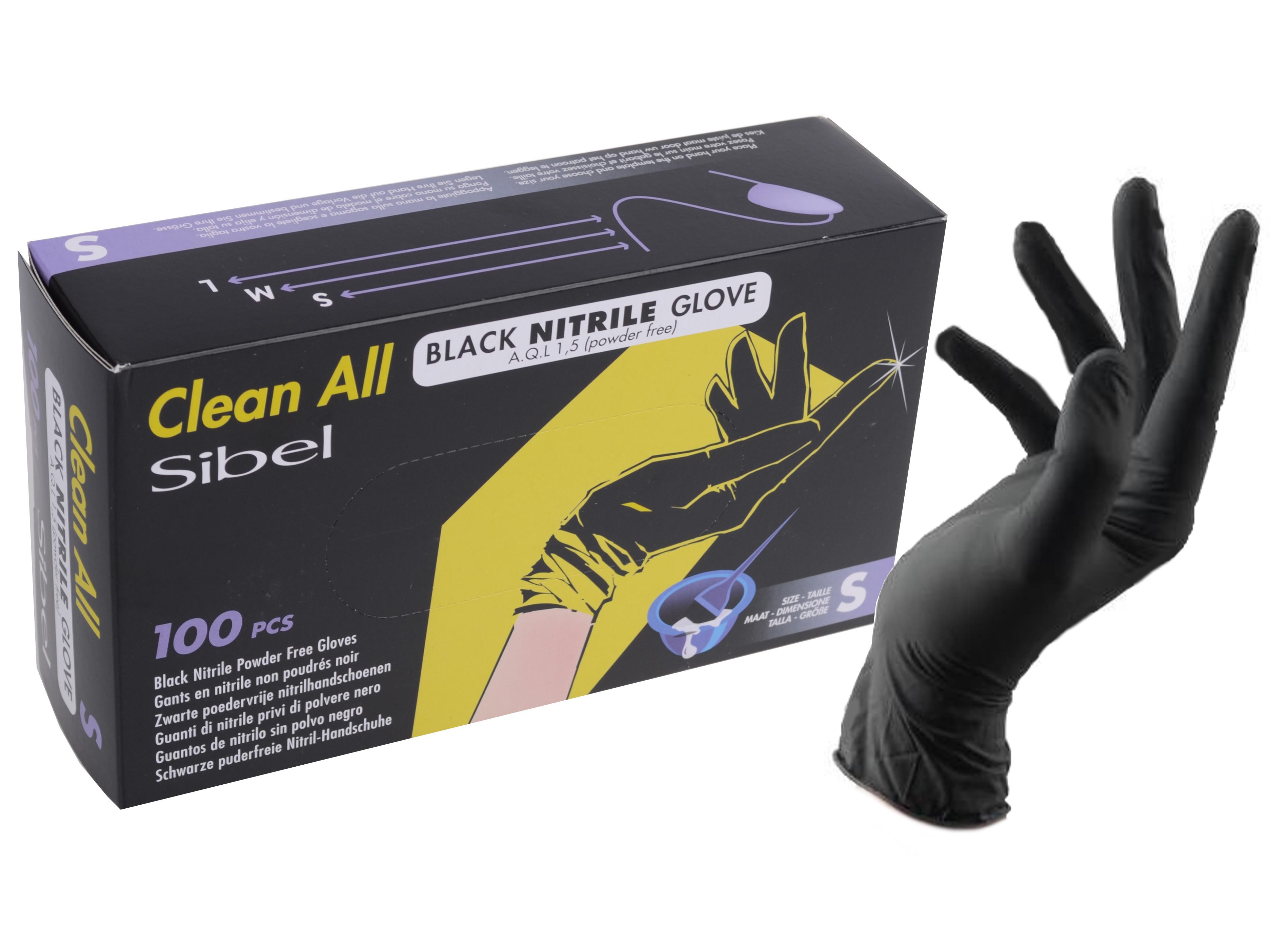 Nitrilové rukavice pro kadeřníky Sibel Clean All 100 ks - S (093400154)