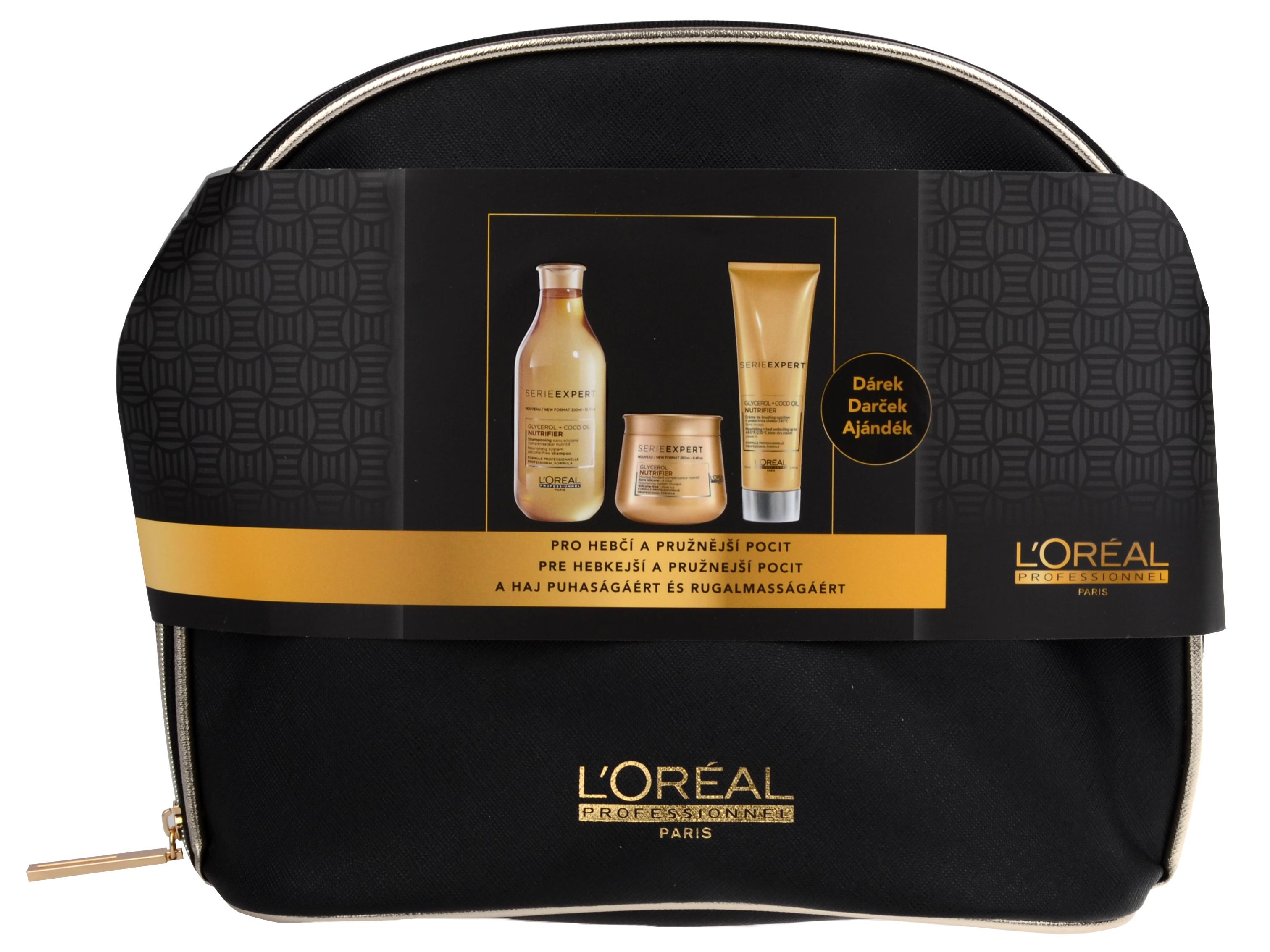 Dárková sada pro suché a nevyživené vlasy Loréal Nutrifier + DÁREK ZDARMA