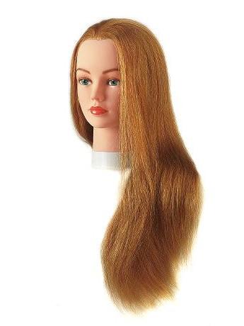 Cvičná hlava dámská s přírodními vlasy JULIE, Sibel - blond 40 - 60 cm (0040601) + DÁREK ZDARMA