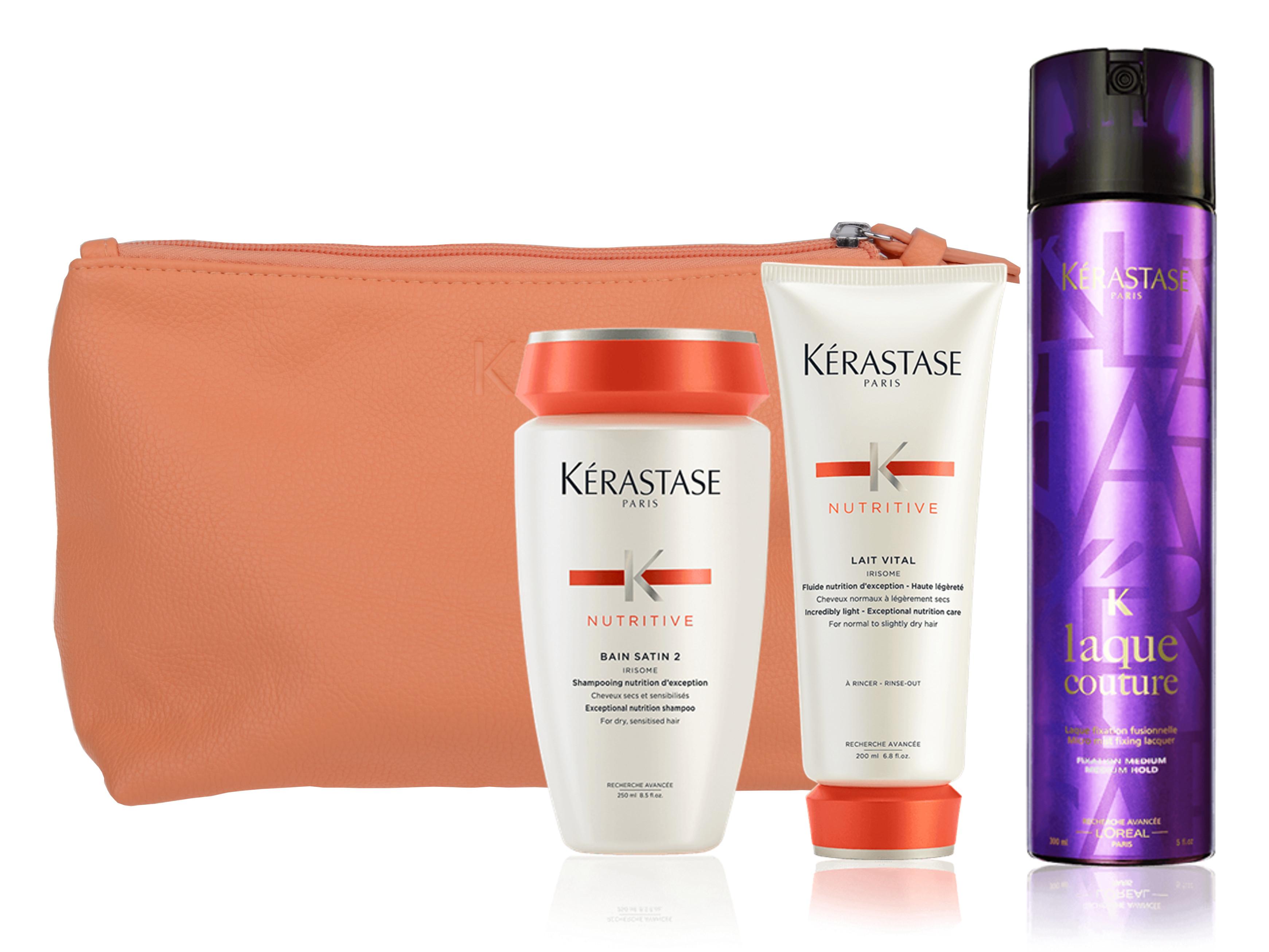 Sada pro normální a suché vlasy v kosmetické taštičce Kérastase Nutritive + DÁREK ZDARMA