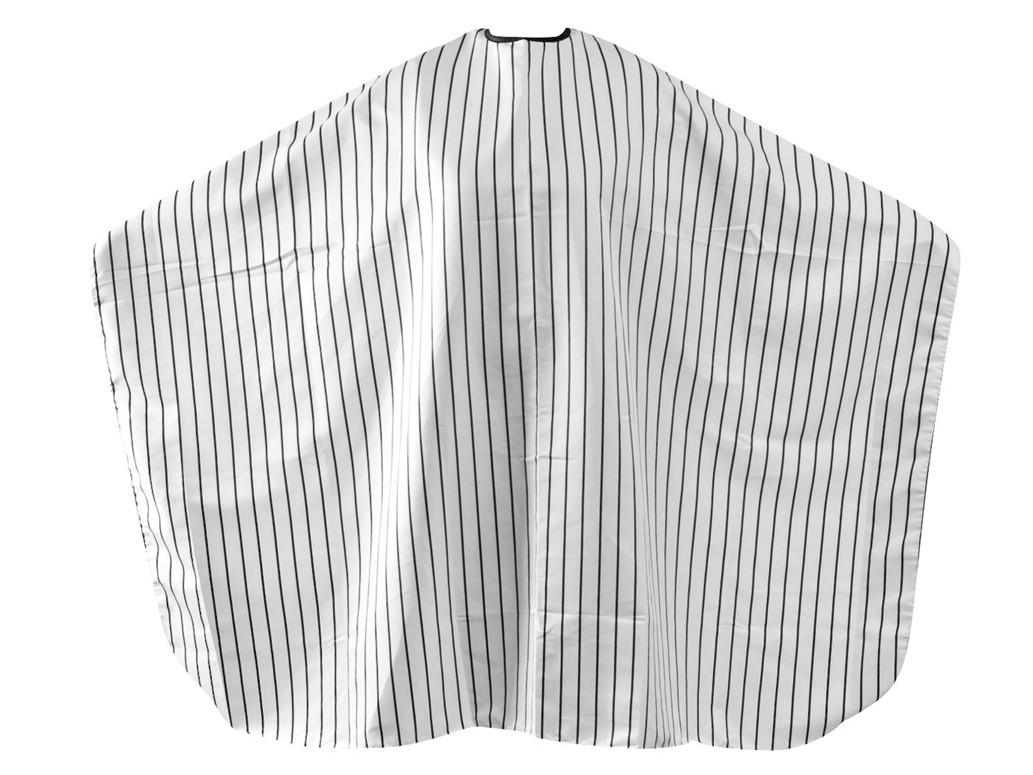Pláštěnka na stříhání vousů a vlasů Fox Barber Expert - černé pruhy (1509432, 2740012) + DÁREK ZDARMA