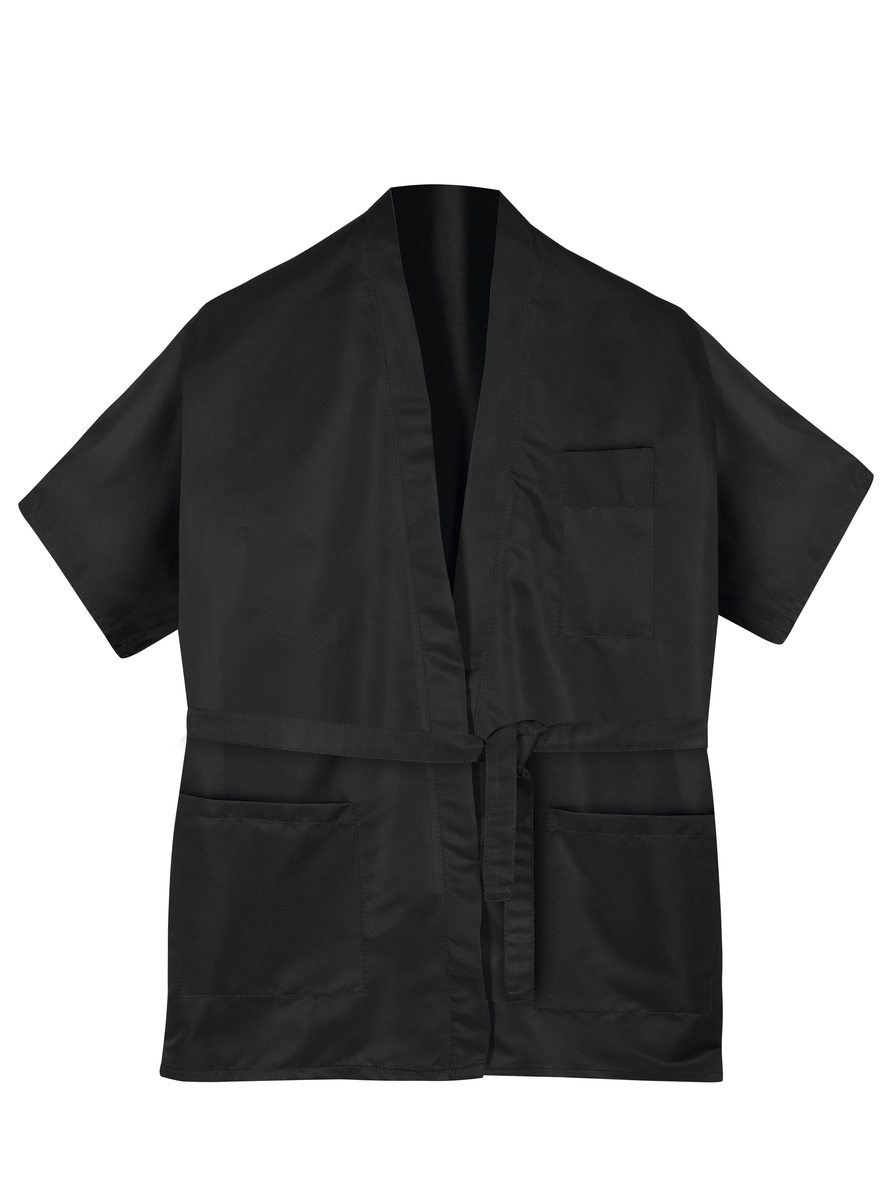 Kadeřnické kimono na barvení a stříhání M-L Sibel - černé (598013202) + DÁREK ZDARMA