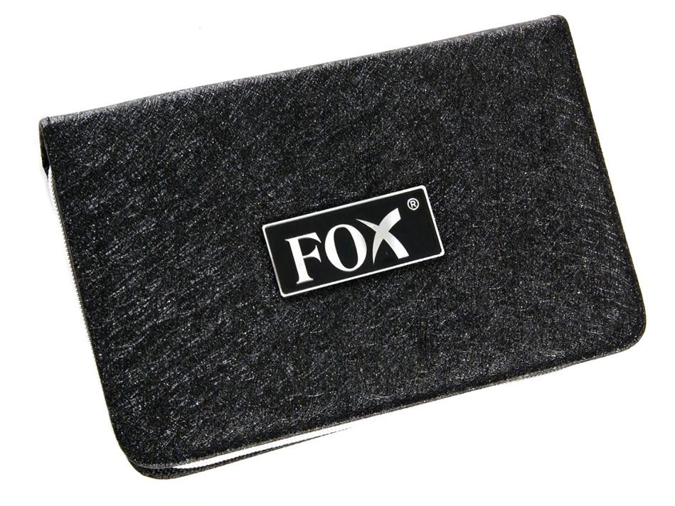 Velké kadeřnické pouzdro na nůžky Fox - černé (1509443, 1507012) + DÁREK ZDARMA