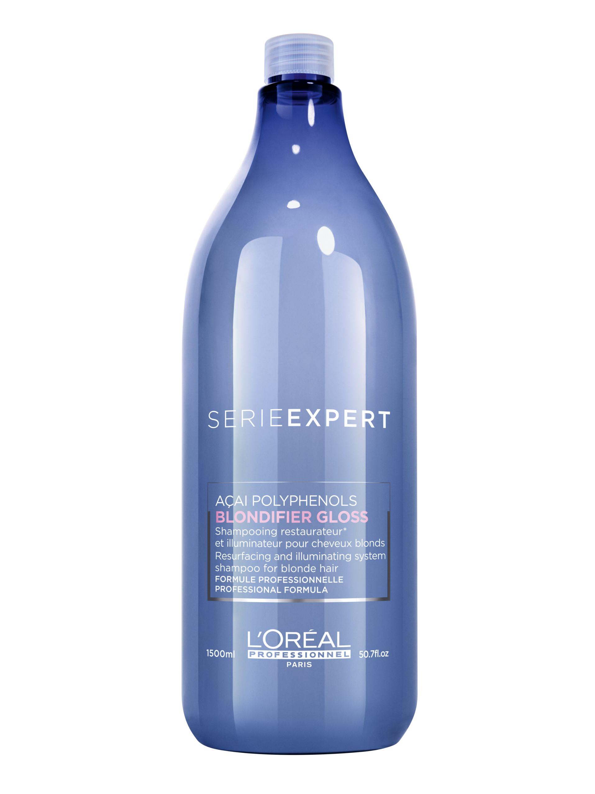 Rozjasňující a regenerační šampon pro blond vlasy Loréal Blondifier Gloss - 1500 ml + DÁREK ZDARMA