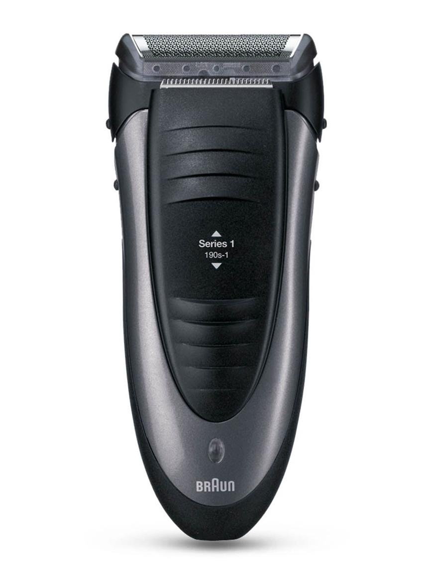 Planžetový holící strojek na vousy Braun Series 1 190s - tmavě šedý + DÁREK ZDARMA