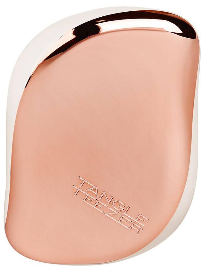 Kartáč na vlasy Tangle Teezer Compact - Rose Gold Cream, krémová/růžovozlatá + DÁREK ZDARMA