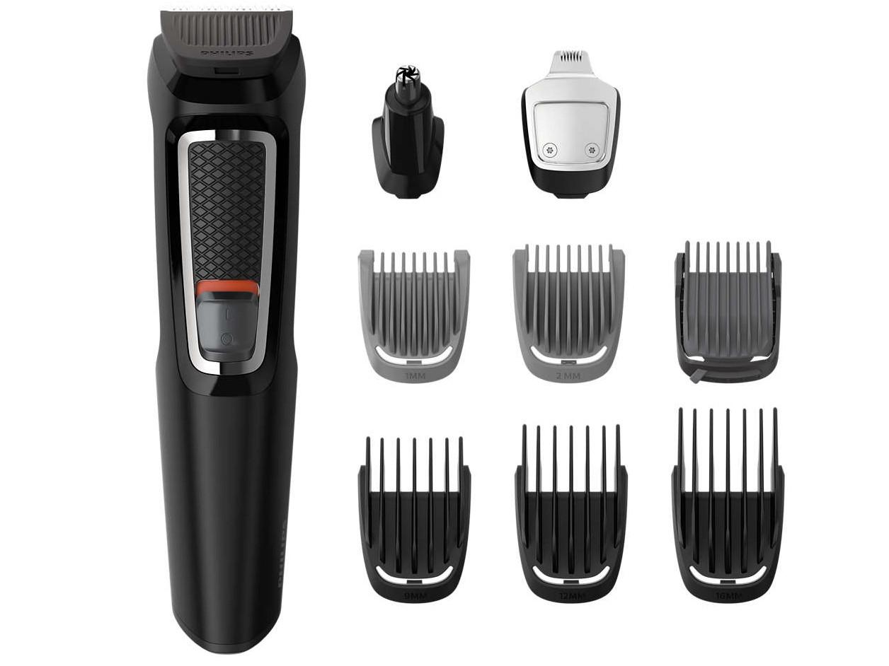 Zastřihovač vlasů a vousů Philips Series 3000 MG3740/15 - černý + DÁREK ZDARMA