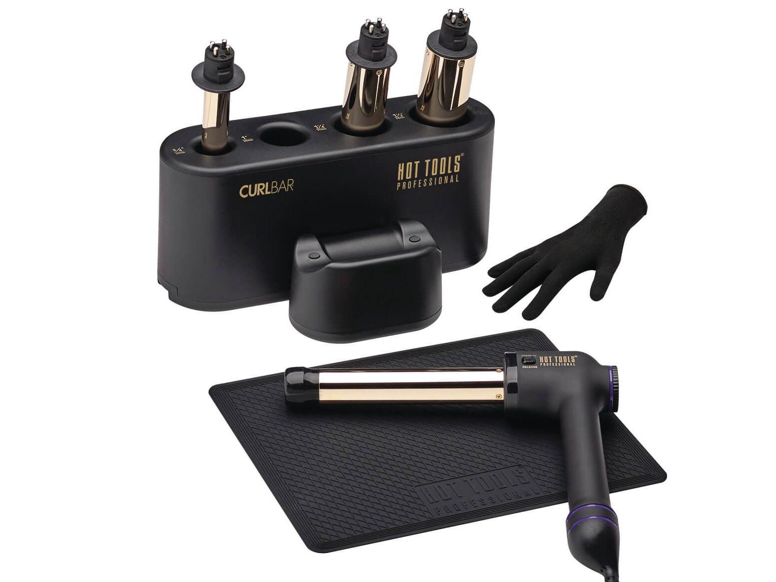 Kulma na vlasy Hot Tools 24K Gold Curl Bar Set - 19 mm, 25 mm, 32 mm, 38 mm (HTCURLSETUK) + DÁREK ZDARMA