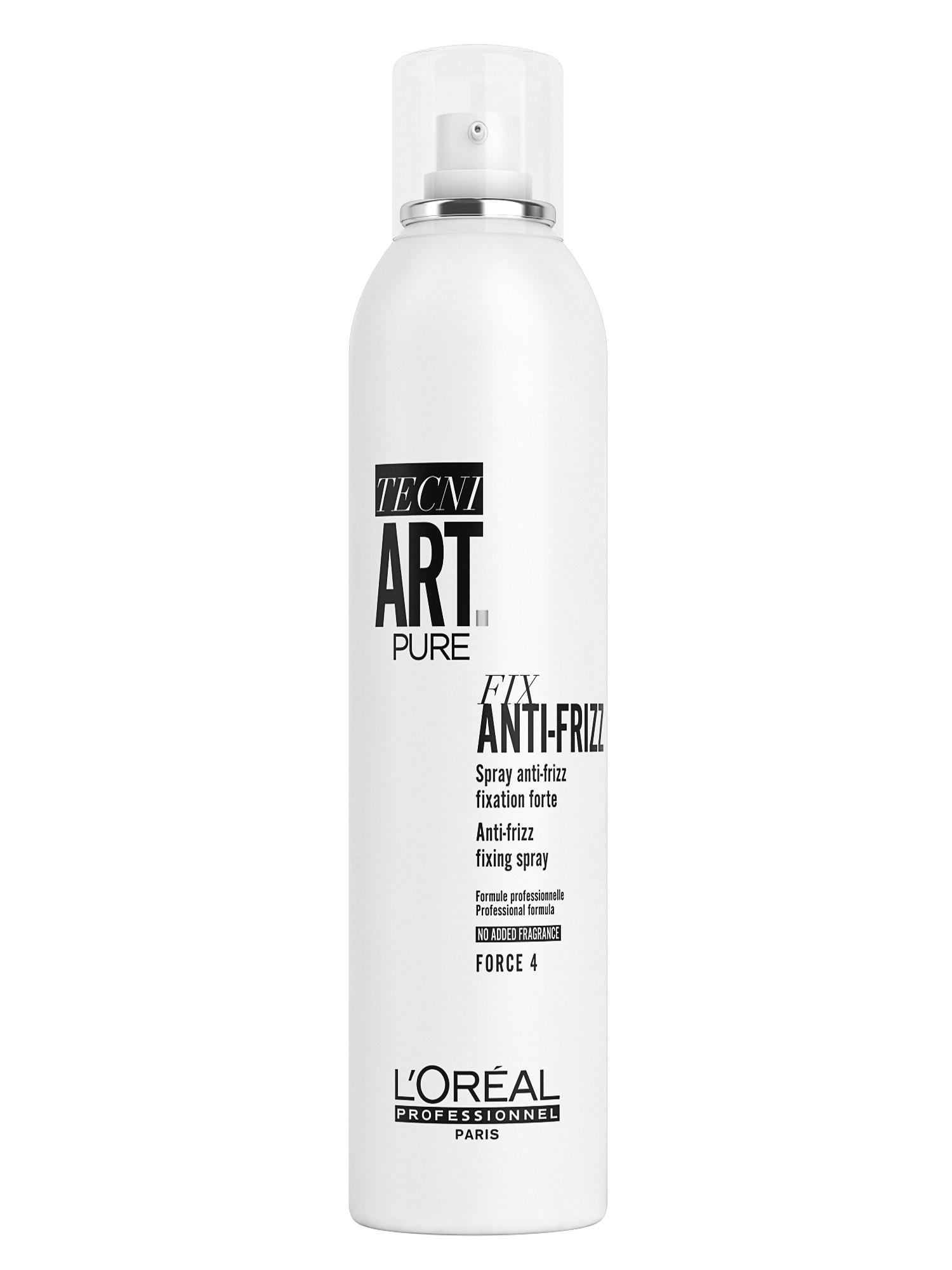Fixační sprej proti krepatění vlasů Loréal Tecni. Art Anti-Frizz Pure - 400 ml + DÁREK ZDARMA