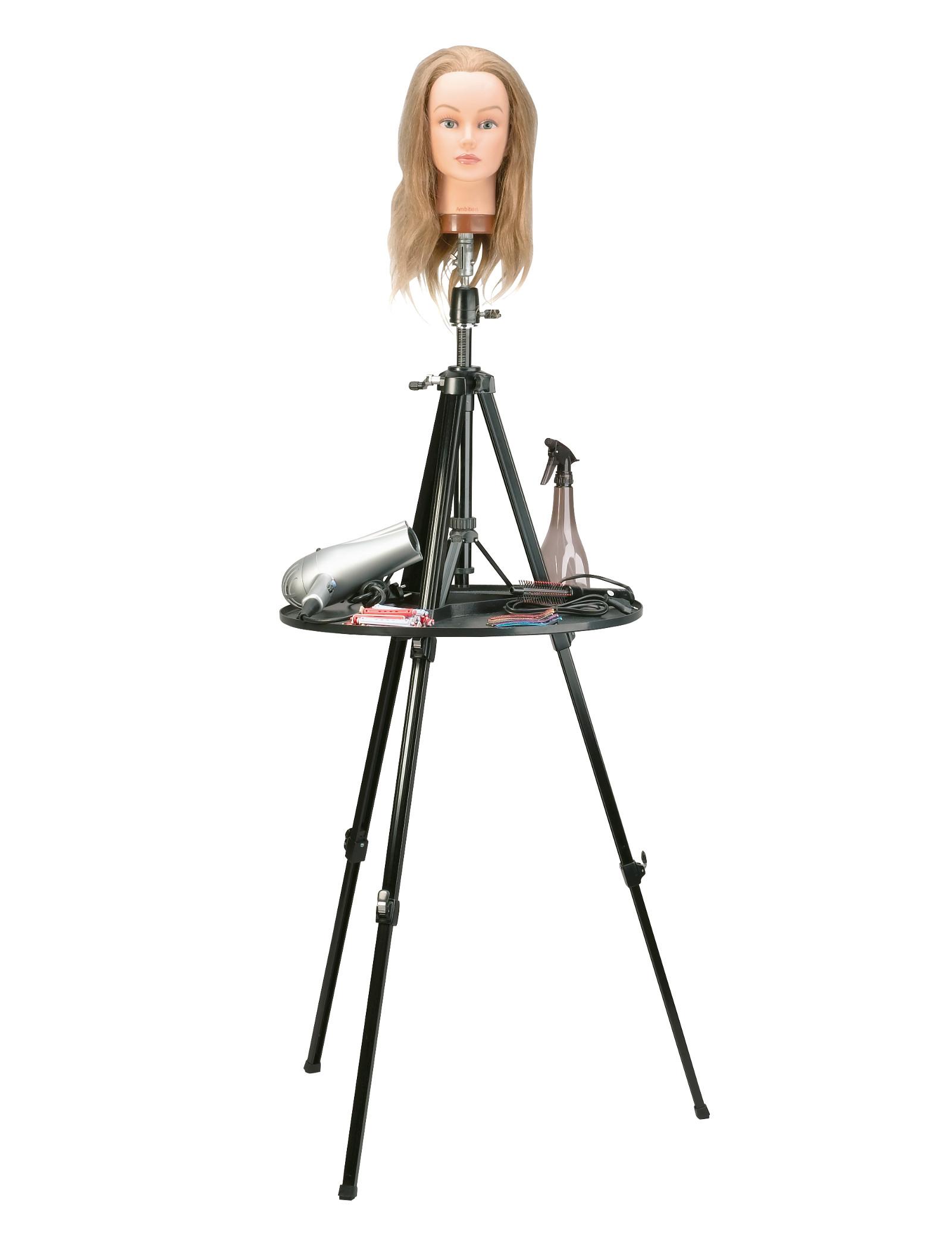 Teleskopický stojan s odkládací plochou pro cvičnou hlavu Sibel Ambi-Pod - černý (0034531) + DÁREK ZDARMA