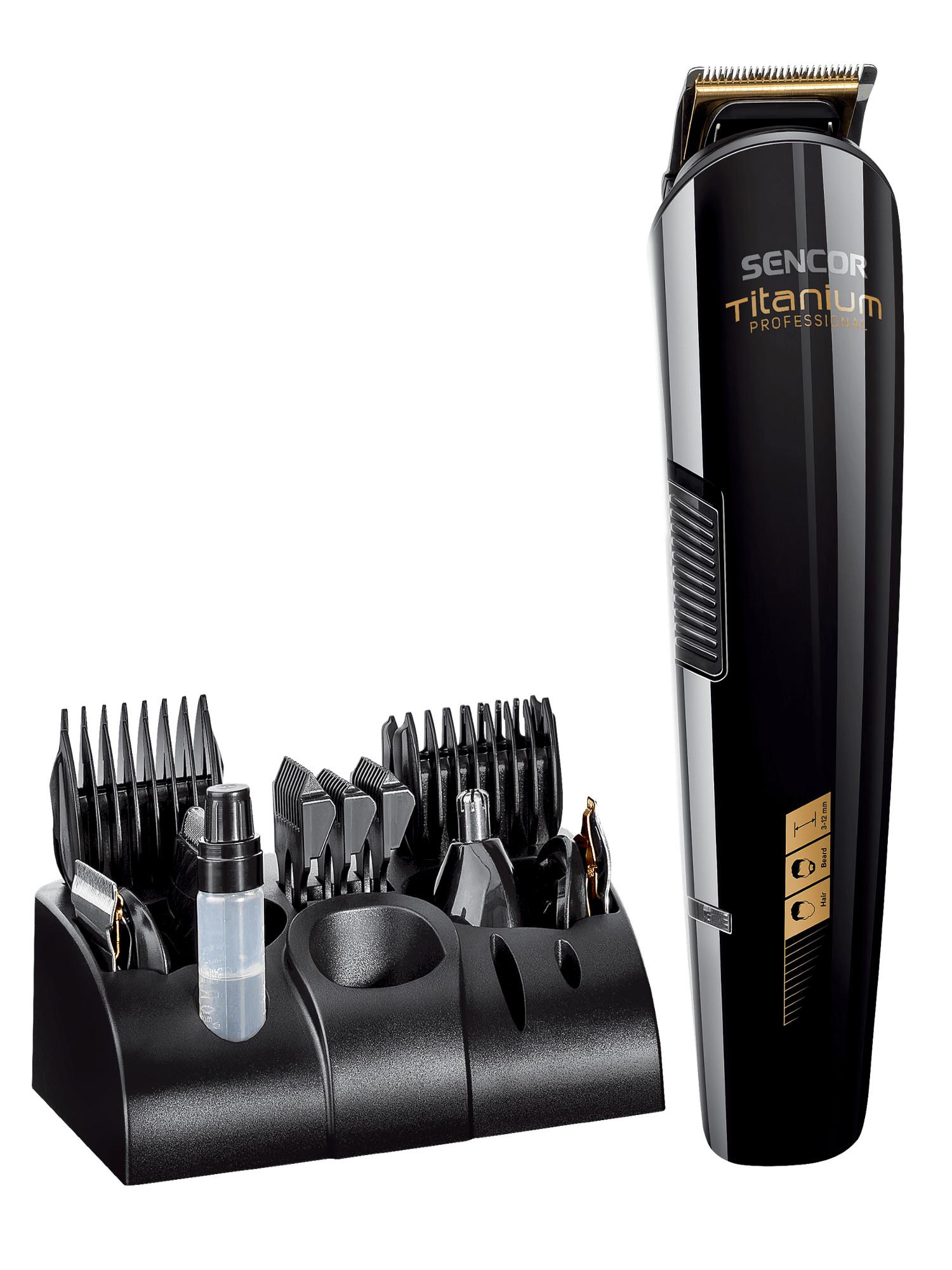 Zastřihovač vlasů a vousů 12 v1 Sencor SHP 8305BK + DÁREK ZDARMA