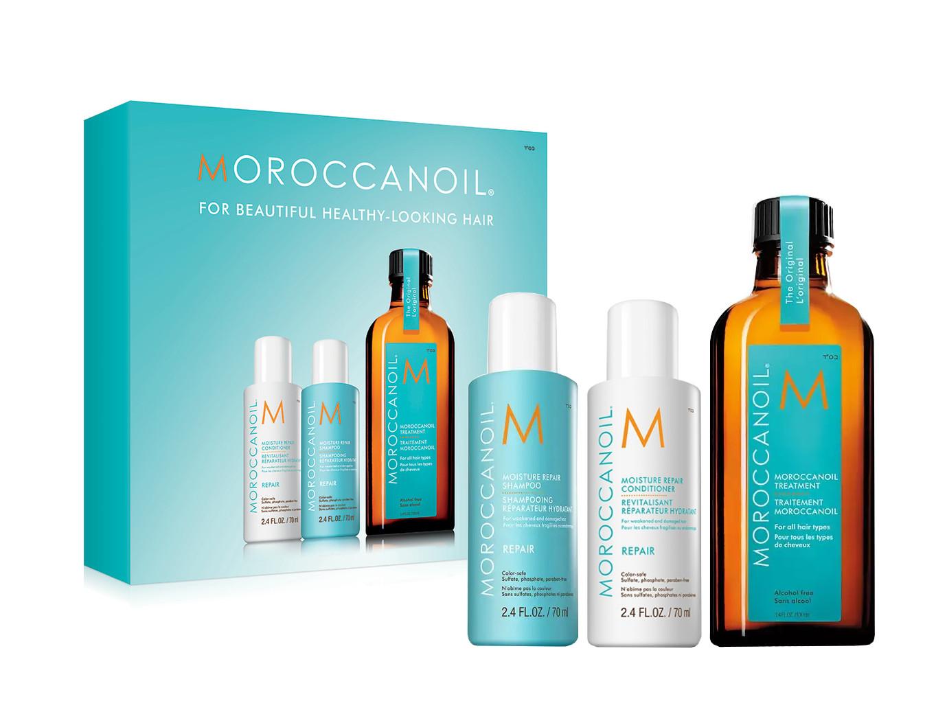 Olejová péče Moroccanoil Treatment - 100 ml + šampon a kondicionér Repair 70 ml zdarma (KIT492CZ) + DÁREK ZDARMA