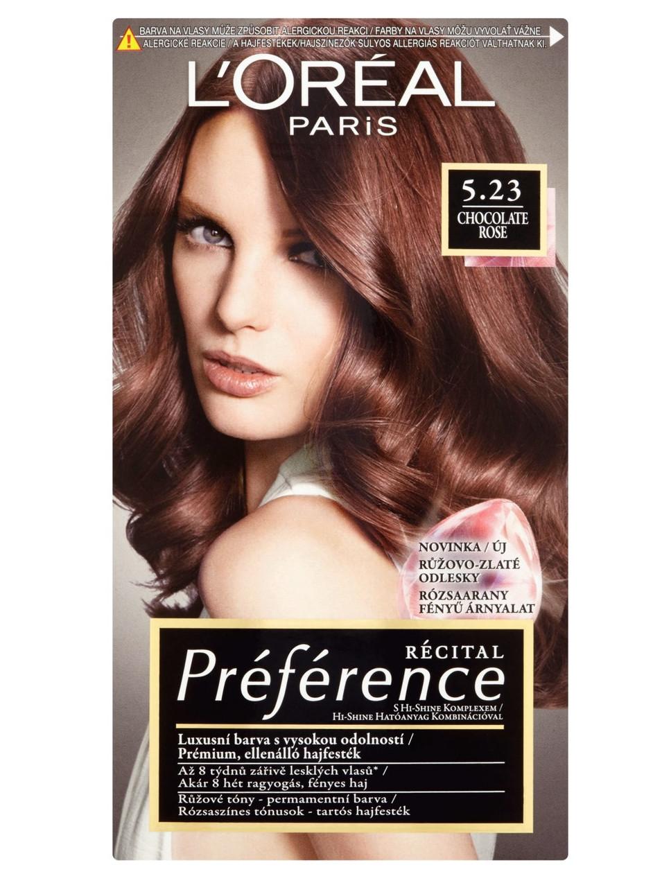 Permanentní barva Loréal Préférence 5.23 čokoládově růžová