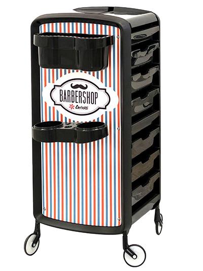 Kadeřnický vozík Ceriotti Elogy Barber - černý (7256) + DÁREK ZDARMA