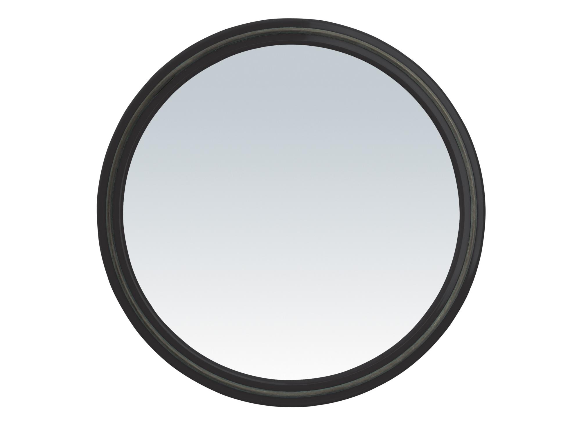 Kulaté zrcátko s rukojetí Sibel, černé (013073102) + DÁREK ZDARMA