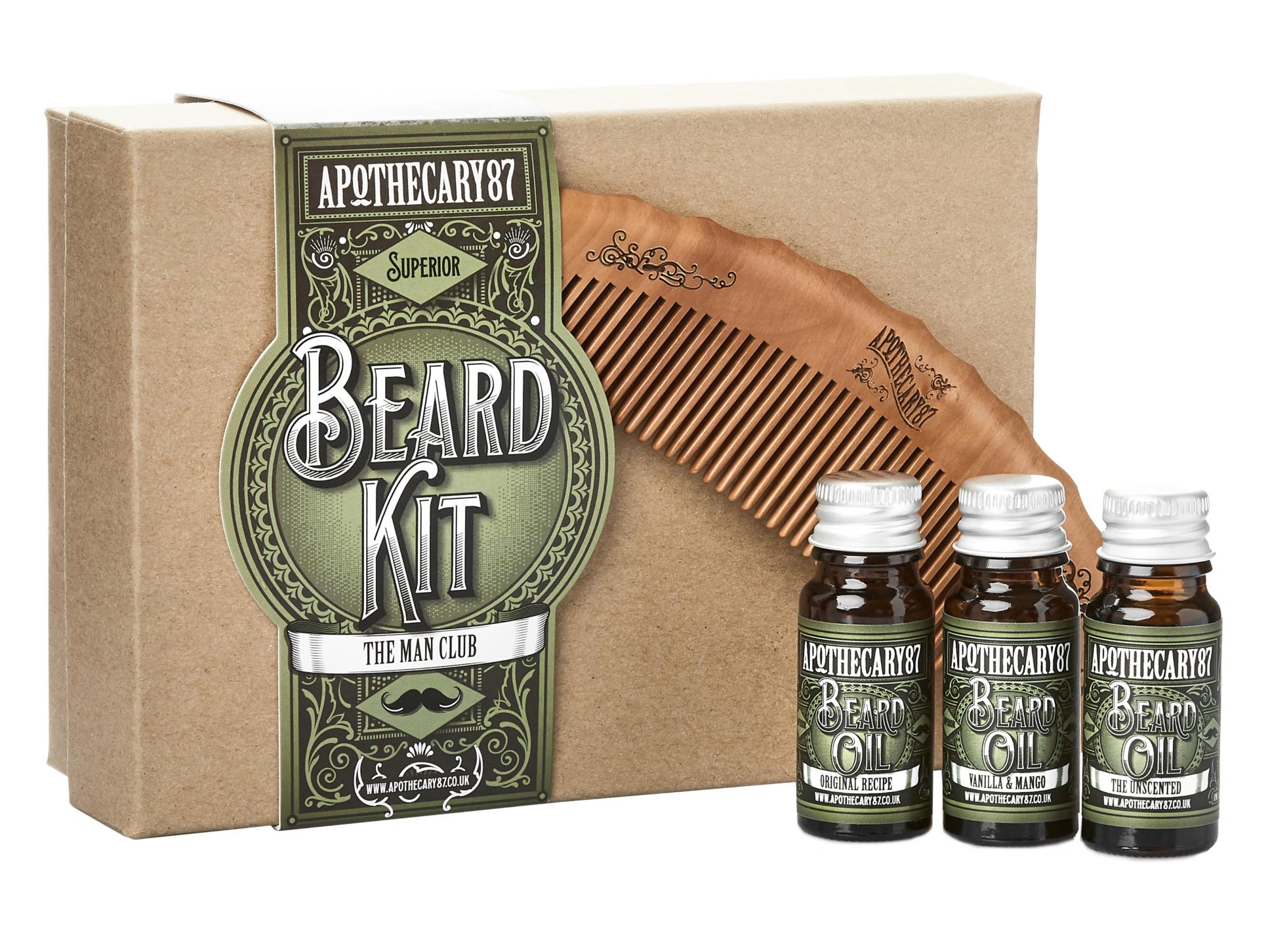 Dárková sada pro úpravu vousů Apothecary 87 Beard Kit (LSGBBK005) + DÁREK ZDARMA