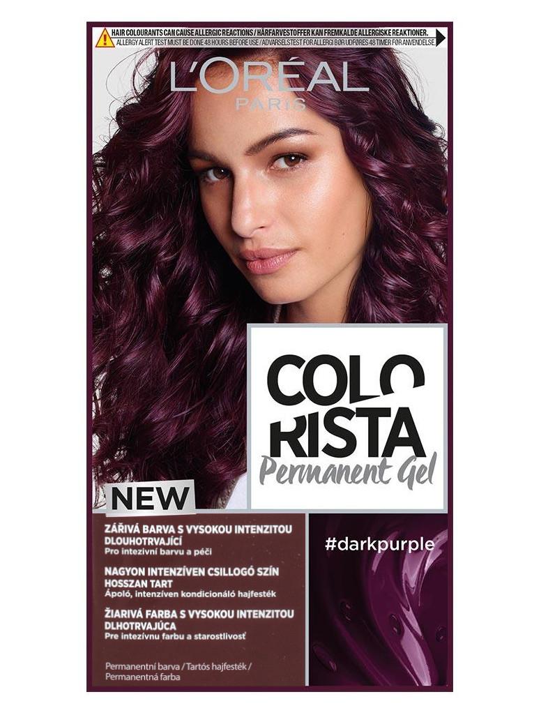 Permanentní barva na vlasy Loréal Colorista Permanent Gel Dark Purple - tmavě fialová