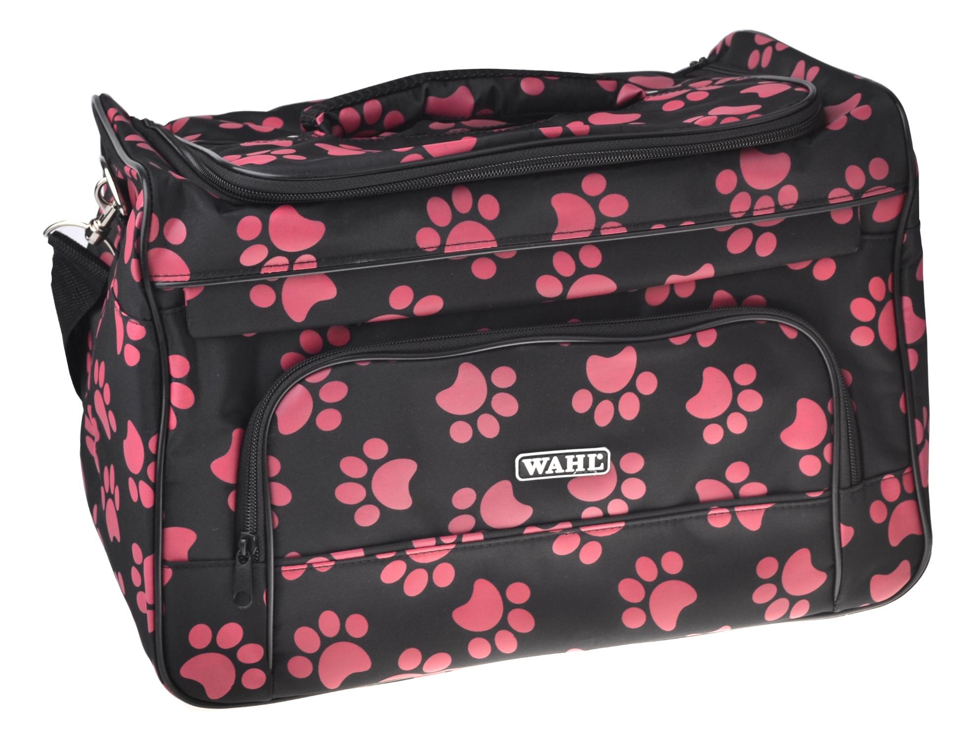 Textilní taška na strojky a příslušenství Wahl - červené tlapky (0093-6280) + DÁREK ZDARMA
