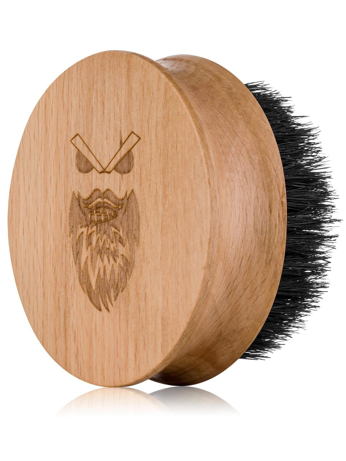 Dřevěný kartáč na vousy s kančími štětinami Angry Beards Safe - 67 mm