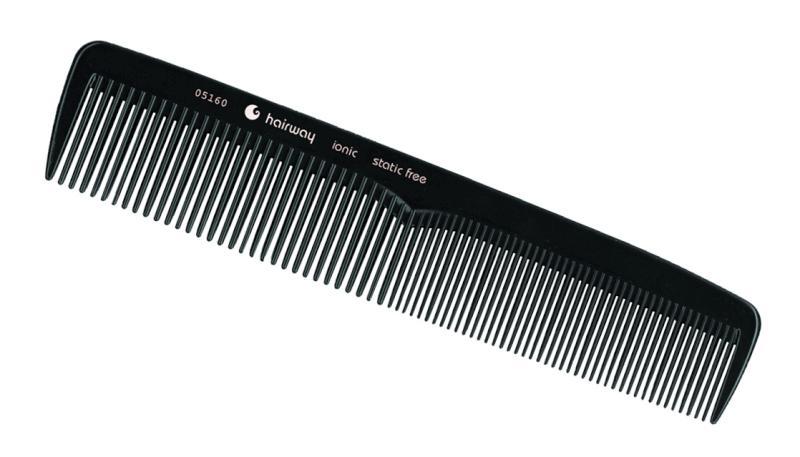 Hřeben ionic na stříhání vlasů Hairway 192 mm (05160)
