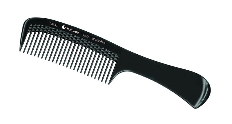 Hřeben ionic na stříhání vlasů s rukojetí Hairway 220 mm (05153)