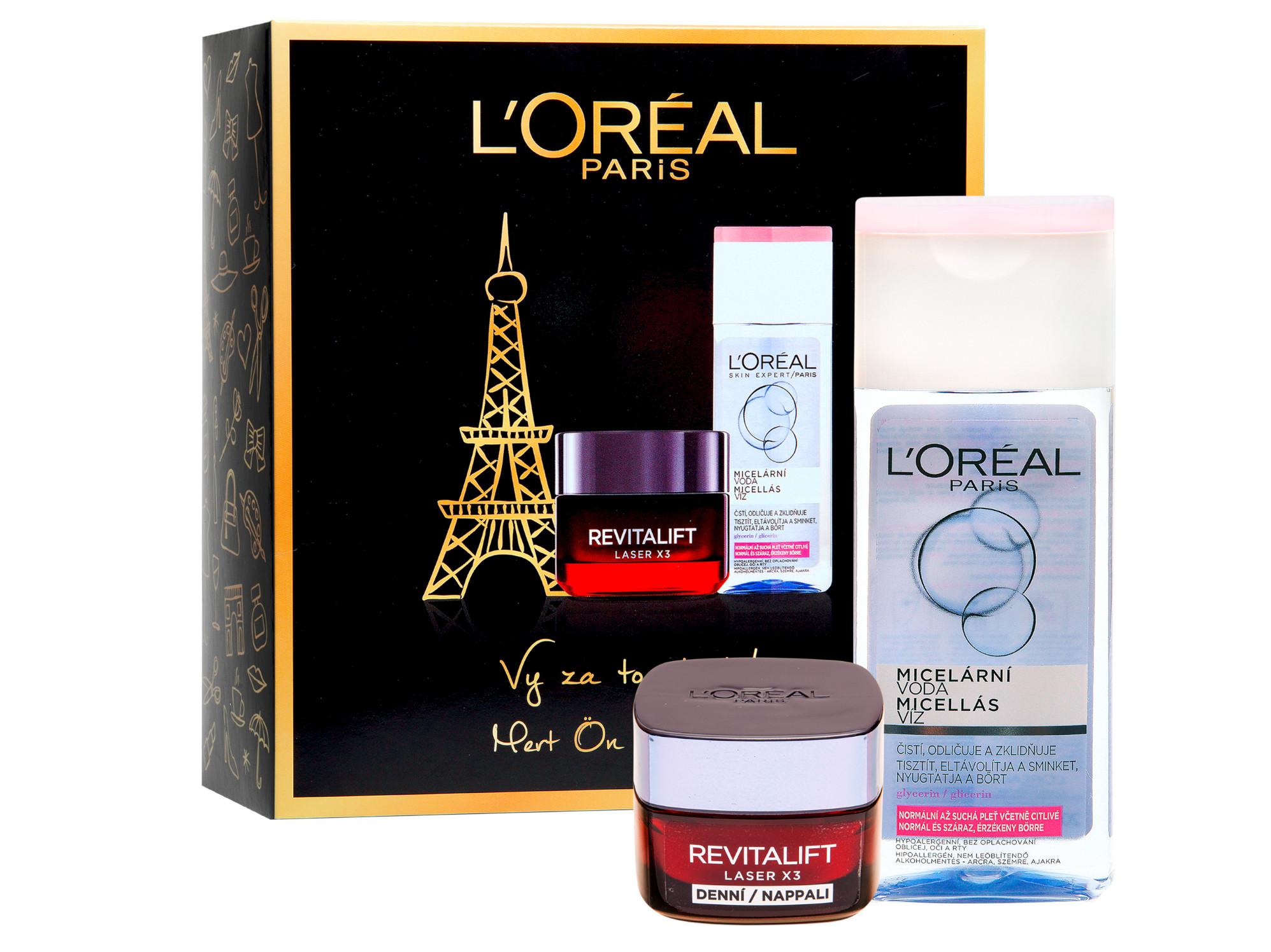 Dárková sada pro zralou pleť Loréal Revitalift Laser X3 - L'Oréal Paris + DÁREK ZDARMA